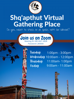 Virtual Gathering Place Schedule